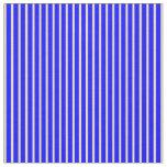 [ Thumbnail: Tan and Blue Stripes Pattern Fabric ]