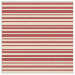 [ Thumbnail: Tan and Brown Colored Lines Pattern Fabric ]