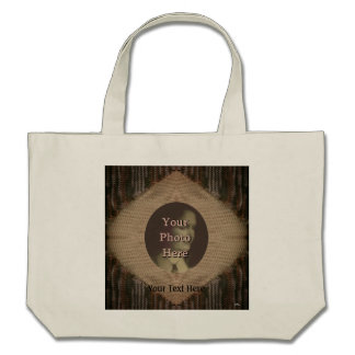 Tan and Brown Knit Bag
