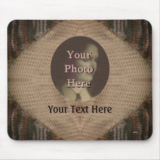 Tan and Brown Knit Mousepads