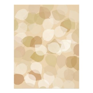 Tan and Brown Leaves Pad Template Flyer