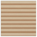 [ Thumbnail: Tan and Brown Lines/Stripes Pattern Fabric ]