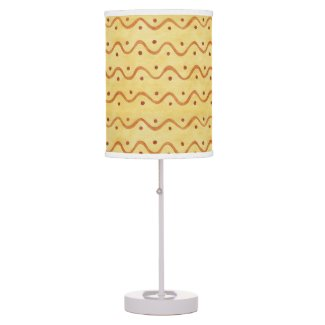 Tan and Brown Squiggle Table Lamp