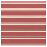 [ Thumbnail: Tan and Brown Stripes Fabric ]