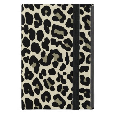 Coffee Themed Tan and Coffee Leopard Print Pattern Cover For iPad Mini