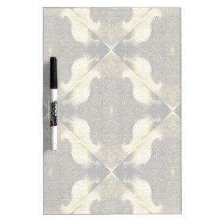 Tan and Cream Pattern Dry-Erase Board