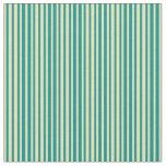 [ Thumbnail: Tan and Dark Cyan Lines/Stripes Pattern Fabric ]