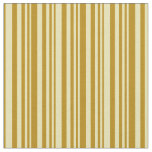 [ Thumbnail: Tan and Dark Goldenrod Lines/Stripes Pattern Fabric ]