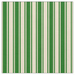 [ Thumbnail: Tan and Dark Green Colored Striped/Lined Pattern Fabric ]