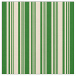 [ Thumbnail: Tan and Dark Green Pattern Fabric ]