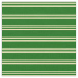 [ Thumbnail: Tan and Dark Green Striped/Lined Pattern Fabric ]
