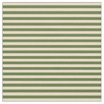 [ Thumbnail: Tan and Dark Olive Green Lines/Stripes Pattern Fabric ]