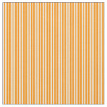 [ Thumbnail: Tan and Dark Orange Colored Pattern of Stripes Fabric ]