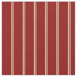 [ Thumbnail: Tan and Dark Red Lines/Stripes Pattern Fabric ]