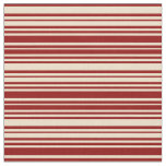 [ Thumbnail: Tan and Dark Red Striped/Lined Pattern Fabric ]