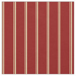 [ Thumbnail: Tan and Dark Red Stripes/Lines Pattern Fabric ]