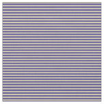 [ Thumbnail: Tan and Dark Slate Blue Colored Stripes Fabric ]