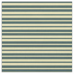 [ Thumbnail: Tan and Dark Slate Gray Pattern Fabric ]