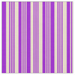 [ Thumbnail: Tan and Dark Violet Colored Lines Fabric ]