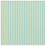 [ Thumbnail: Tan and Deep Sky Blue Stripes Pattern Fabric ]