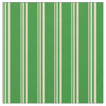 [ Thumbnail: Tan and Forest Green Pattern Fabric ]