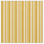 [ Thumbnail: Tan and Goldenrod Colored Lines Pattern Fabric ]