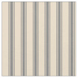 [ Thumbnail: Tan and Gray Stripes/Lines Pattern Fabric ]