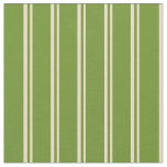[ Thumbnail: Tan and Green Colored Lines/Stripes Pattern Fabric ]