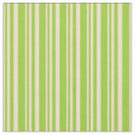 [ Thumbnail: Tan and Green Colored Pattern of Stripes Fabric ]