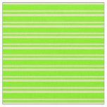 [ Thumbnail: Tan and Green Colored Striped Pattern Fabric ]