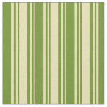 [ Thumbnail: Tan and Green Lined Pattern Fabric ]