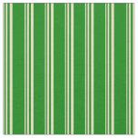 [ Thumbnail: Tan and Green Lines Fabric ]