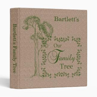 Tan and Green Our Family Tree Binder