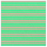 [ Thumbnail: Tan and Green Pattern Fabric ]