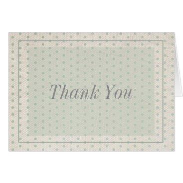 partridgelanestudio Tan and Green Thank You Card