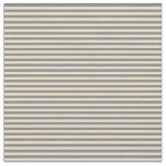 [ Thumbnail: Tan and Grey Colored Lines Fabric ]