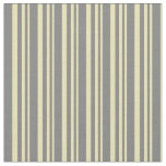 [ Thumbnail: Tan and Grey Lines Pattern Fabric ]