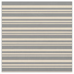 [ Thumbnail: Tan and Grey Lines/Stripes Pattern Fabric ]