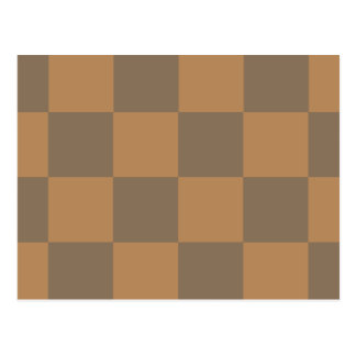 Tan and Grey Tile Pattern Postcard