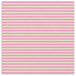 [ Thumbnail: Tan and Hot Pink Lined/Striped Pattern Fabric ]