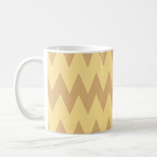 Tan and Light Brown Zigzags. Coffee Mug