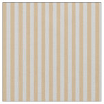 [ Thumbnail: Tan and Light Gray Colored Stripes Fabric ]