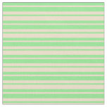 [ Thumbnail: Tan and Light Green Colored Lined/Striped Pattern Fabric ]