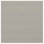 [ Thumbnail: Tan and Light Slate Gray Stripes Pattern Fabric ]