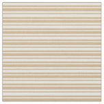 [ Thumbnail: Tan and Light Yellow Lined/Striped Pattern Fabric ]