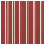 [ Thumbnail: Tan and Maroon Colored Striped/Lined Pattern Fabric ]
