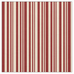 [ Thumbnail: Tan and Maroon Colored Stripes/Lines Pattern Fabric ]