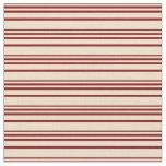 [ Thumbnail: Tan and Maroon Pattern Fabric ]
