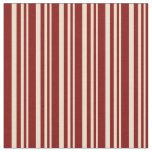 [ Thumbnail: Tan and Maroon Striped/Lined Pattern Fabric ]