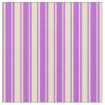 [ Thumbnail: Tan and Orchid Colored Lined/Striped Pattern Fabric ]